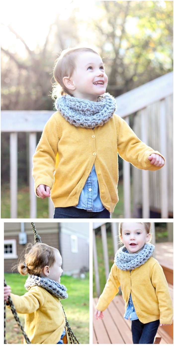 Crocheted Toddler Cowl Scarf