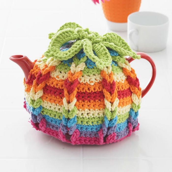 Crochte Hot Hibiscus Tea Cozy