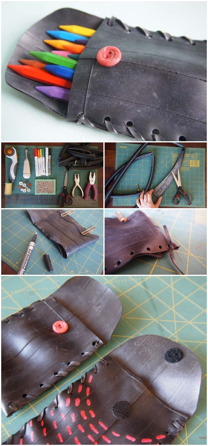 DIY Bicycle Tube Pouch