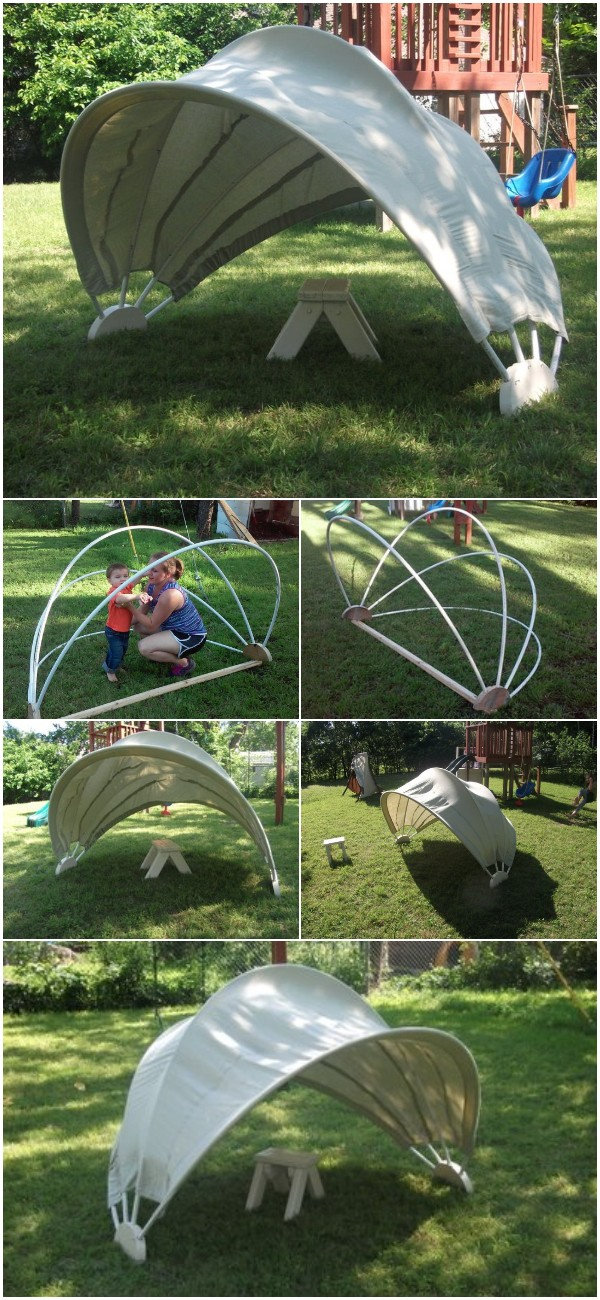DIY Clamshell Sunshade