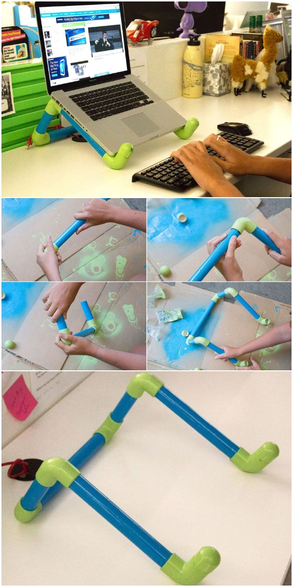 DIY Colorful Pvc Pipe Laptop Stand