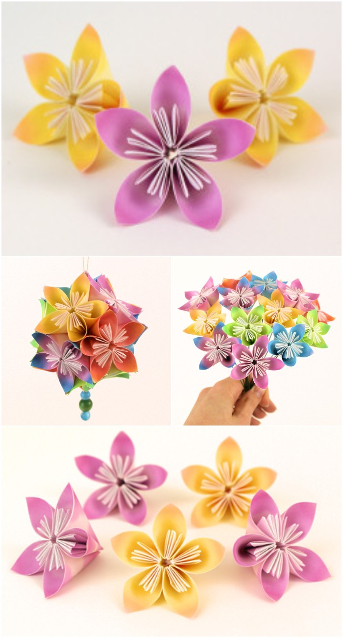 DIY Kusudama Flowers Tutorial