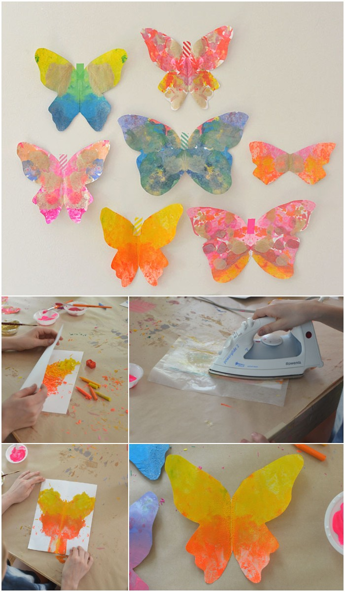 DIY Melted Crayon Butterflies