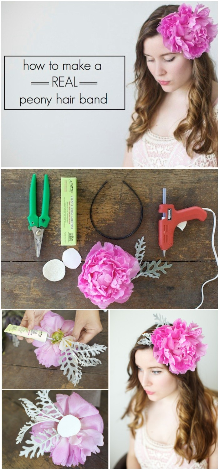 DIY Real Flower Headband