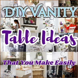 25 DIY Vanity Table Ideas That You Make Easily