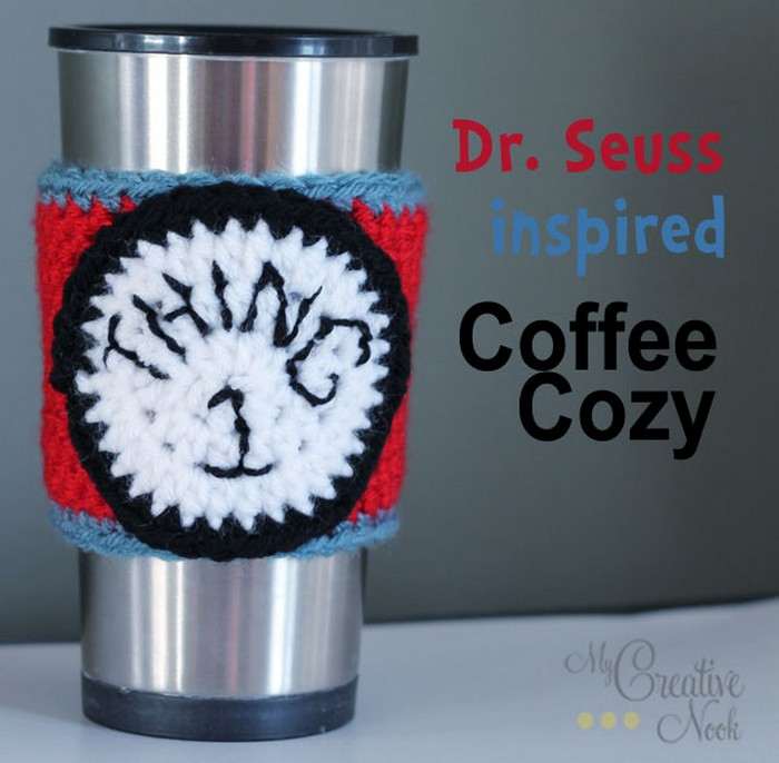 Dr. Seuss Inspired Coffee Cozy