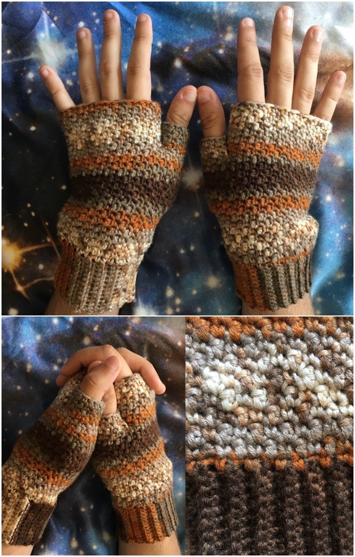 Free Crochet Griddle Stitch Mitts