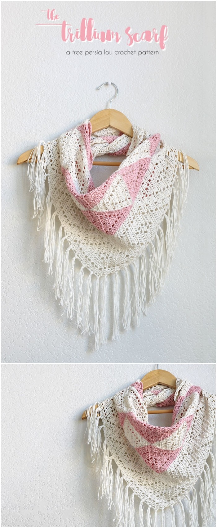 Geometric Triangle Crochet Cowl Scarf Pattern