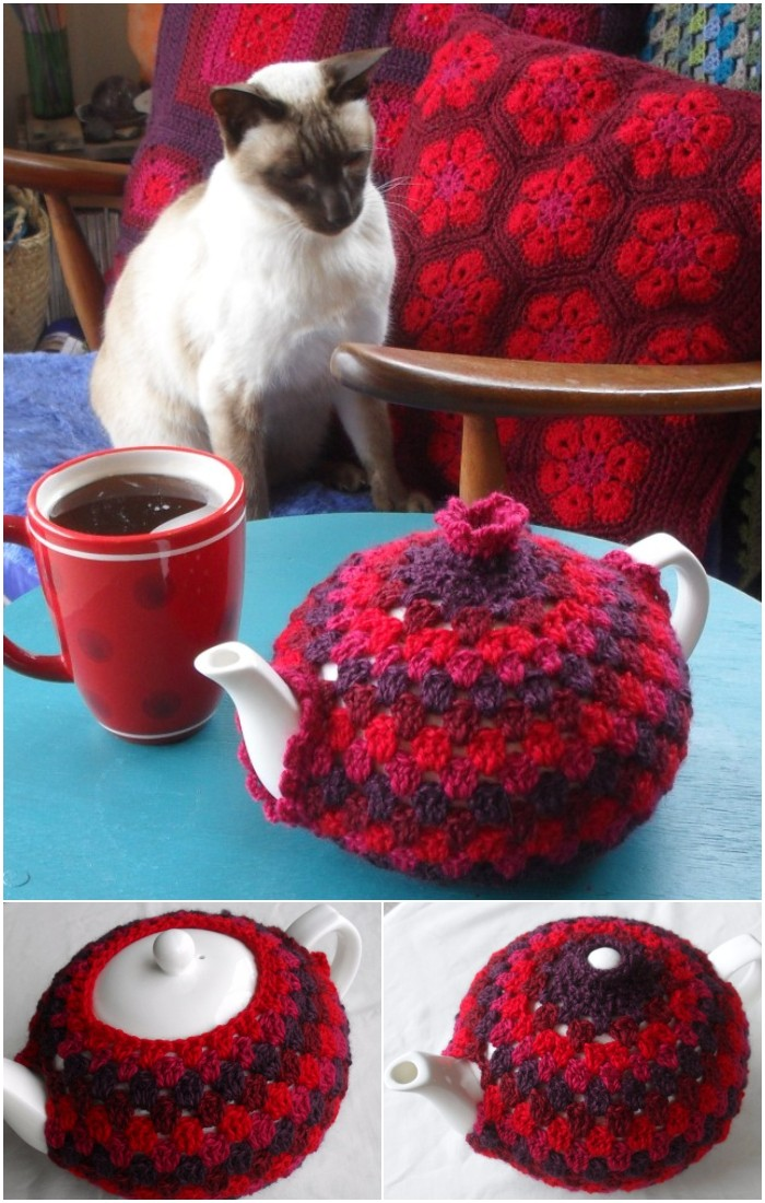 Granny Tea Cozy Crochet Tutorial