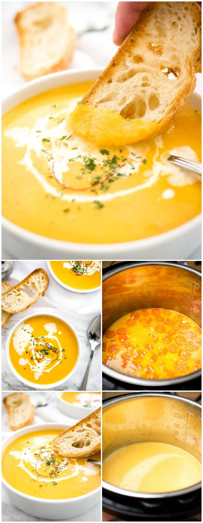 Instant Pot Carrot Soup Recipe