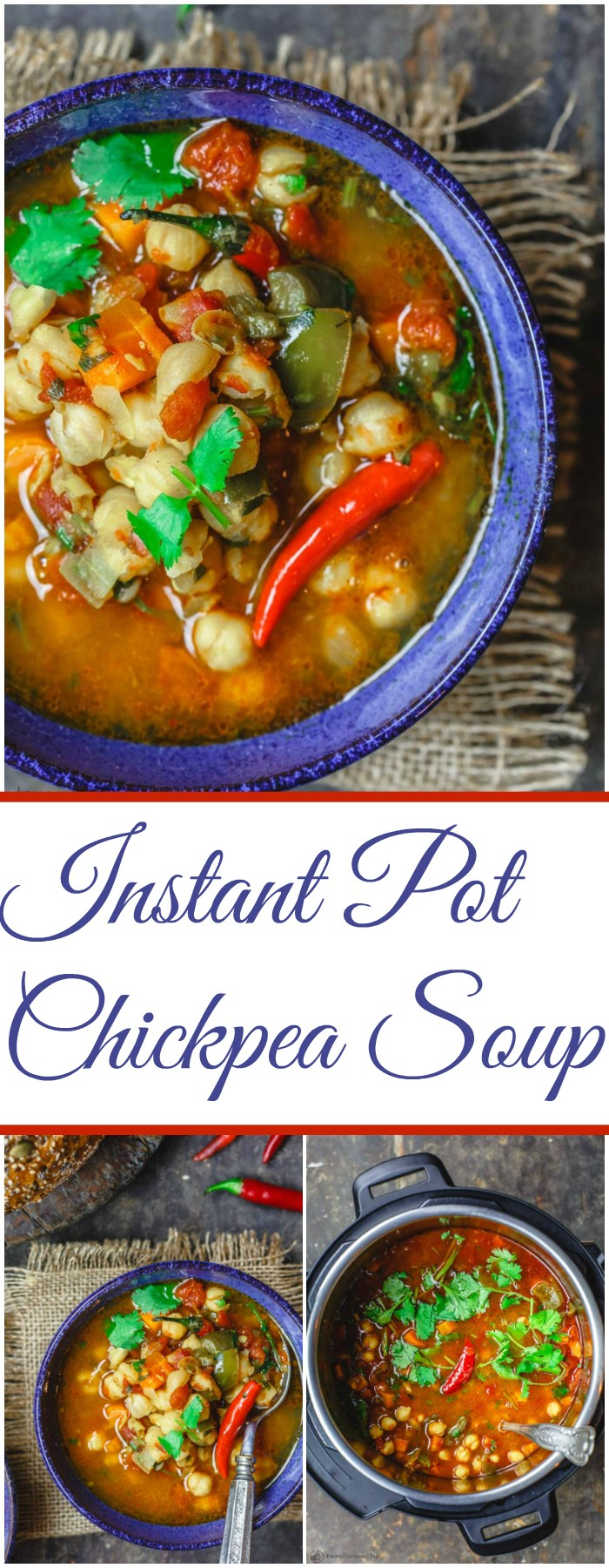 Instant Pot Chickpea Soup