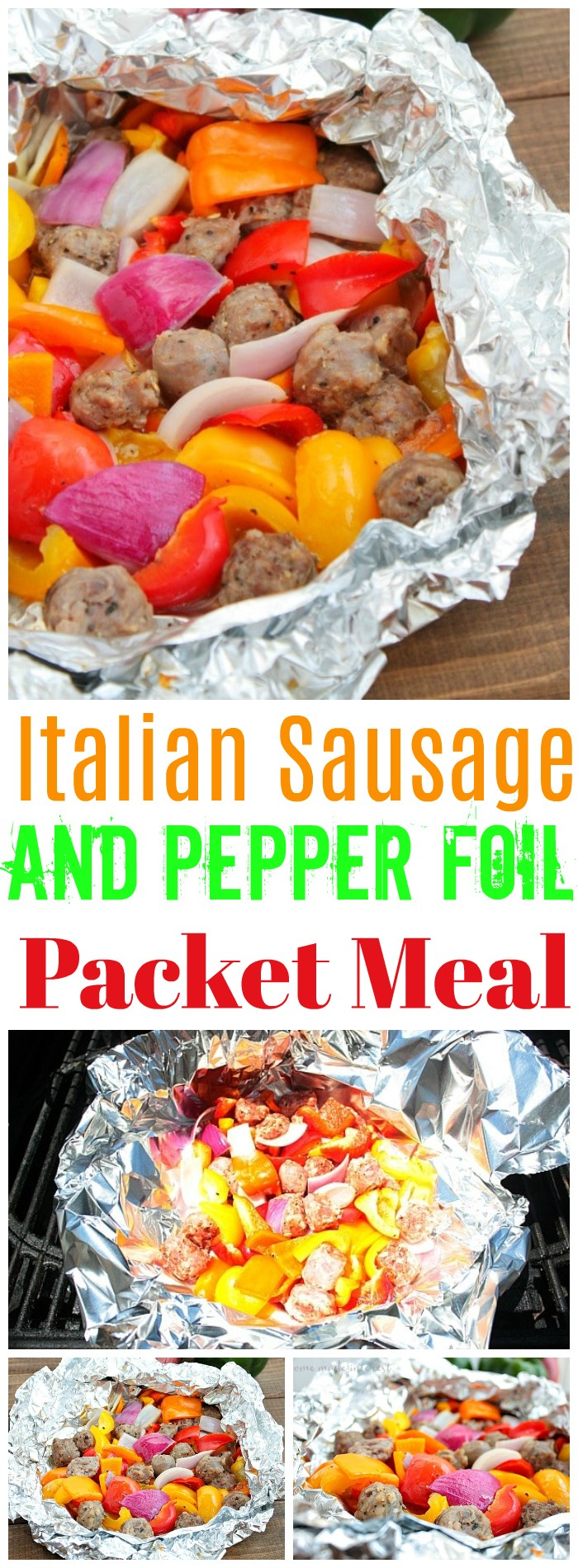 Italian Sausage And Pepper Foil Packet Meal