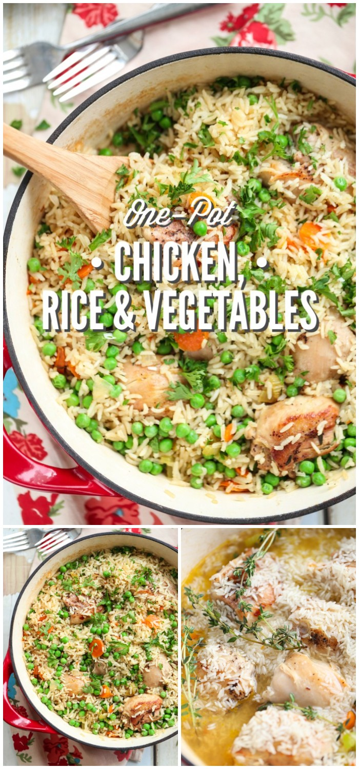 One-pot Chicken, Rice And Vegetables