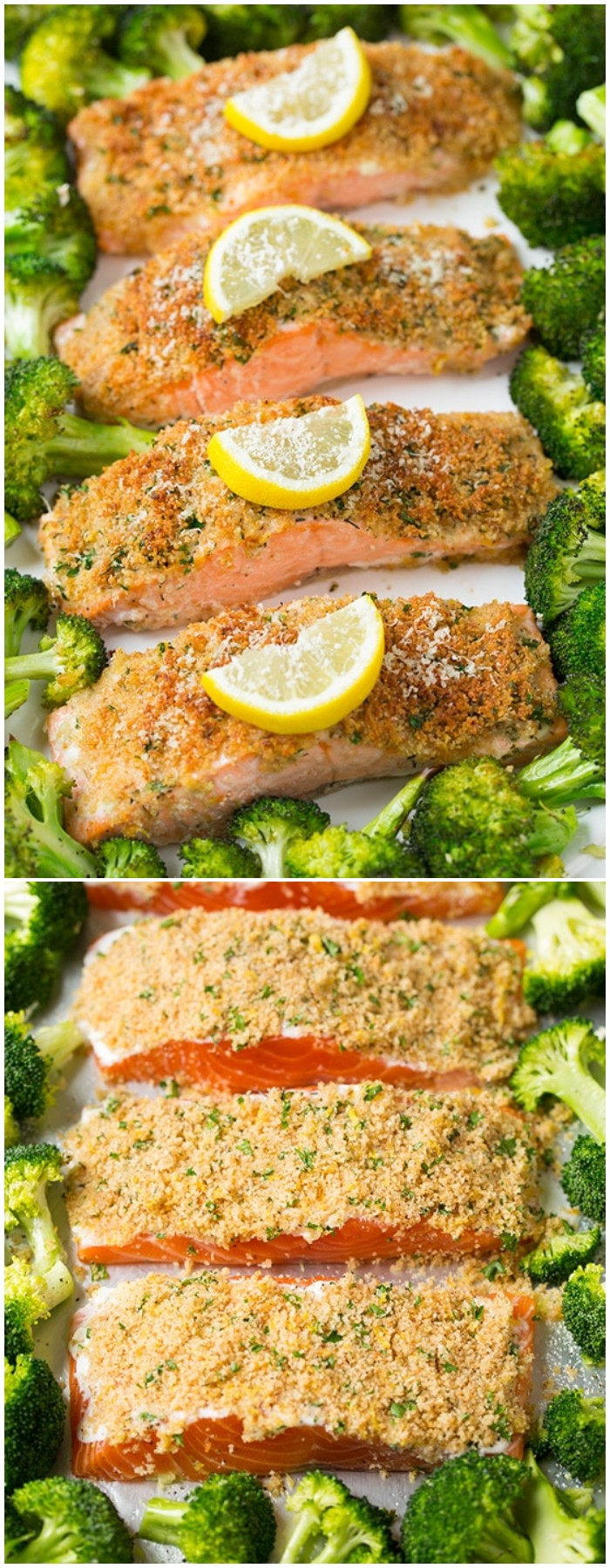 Parmesan Crusted Salmon with Roasted Broccoli