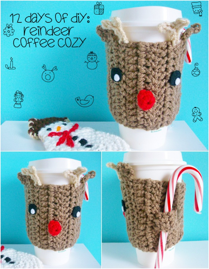 Reindeer Coffee Cozy