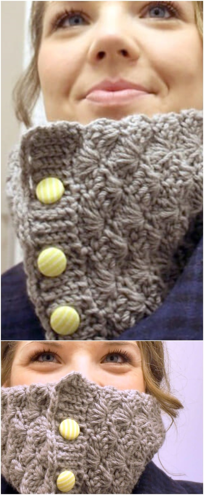 Shell Crochet Cowl