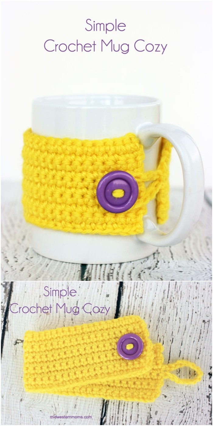 Simple Crochet Mug Cozy