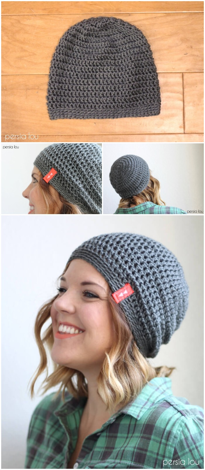 Slouchy Crochet Hat For Beginners