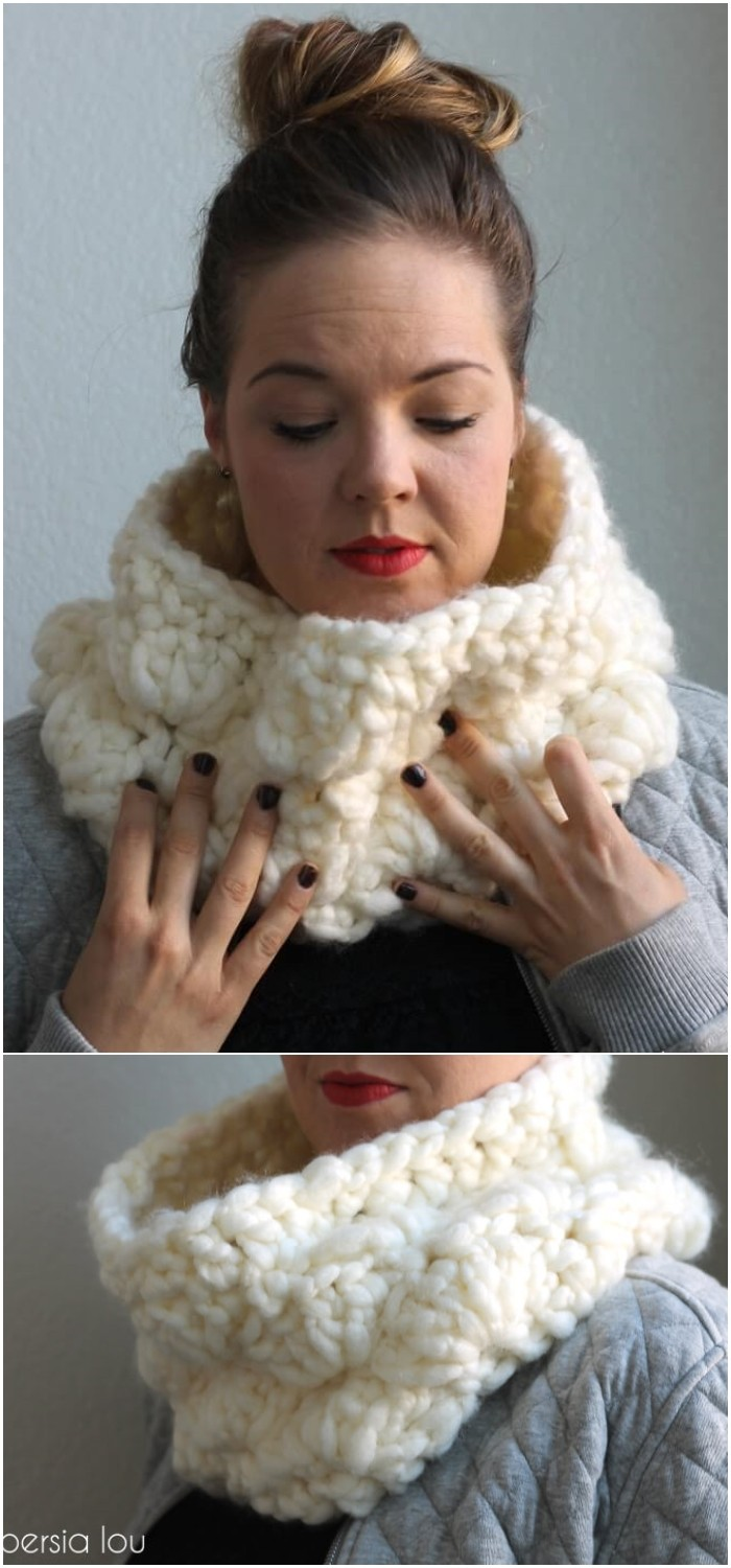 Super Chunky Crochet Cowl Pattern