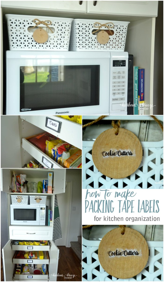 Tape Labels to Organize Kitchen