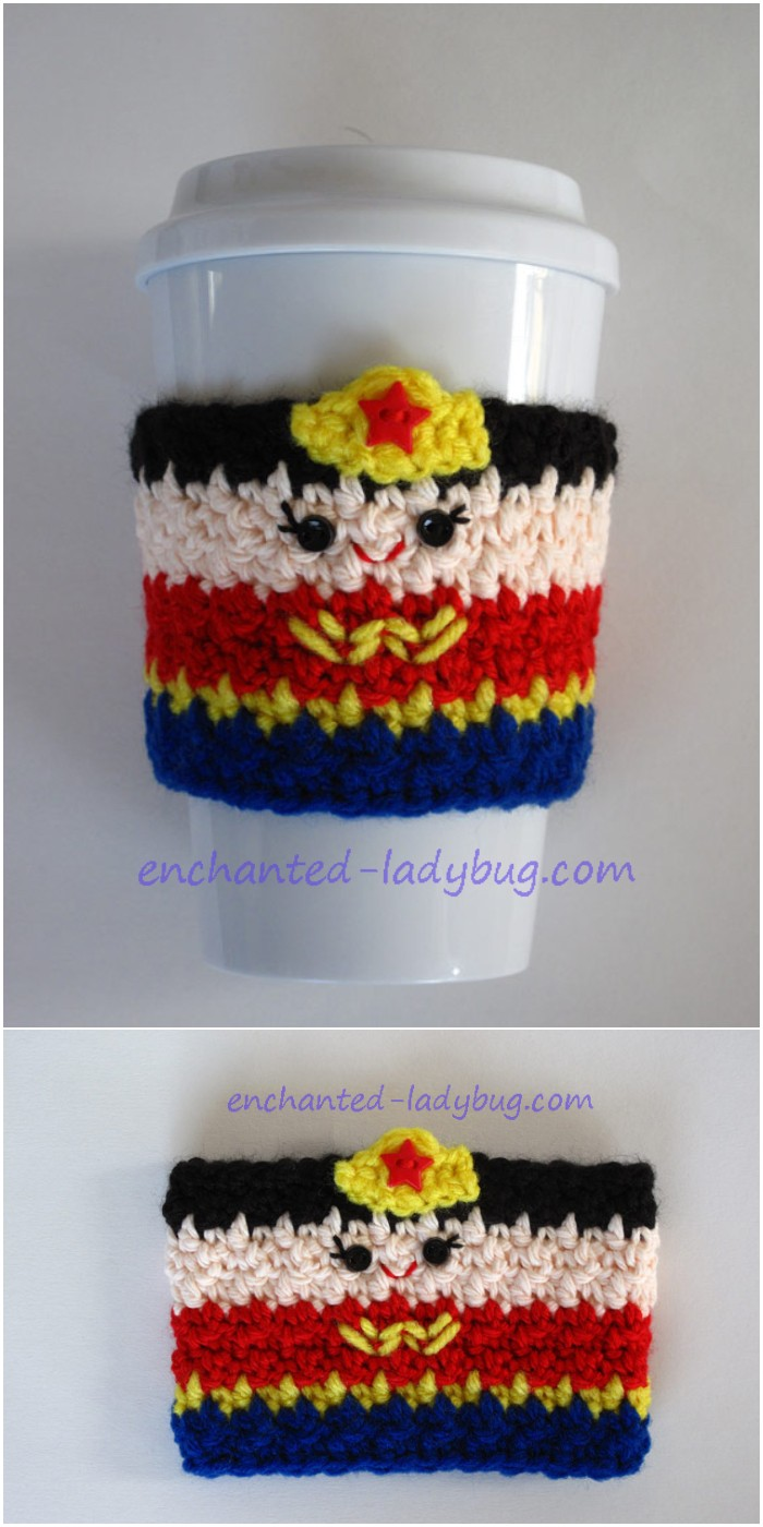 Wonder Woman Coffee Cup Cozy