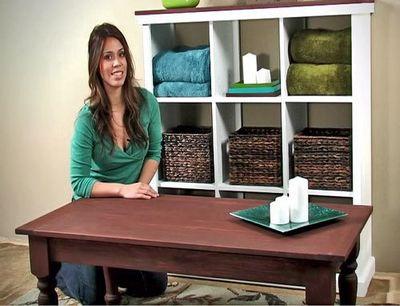 DIY Turned Leg coffee table Idea