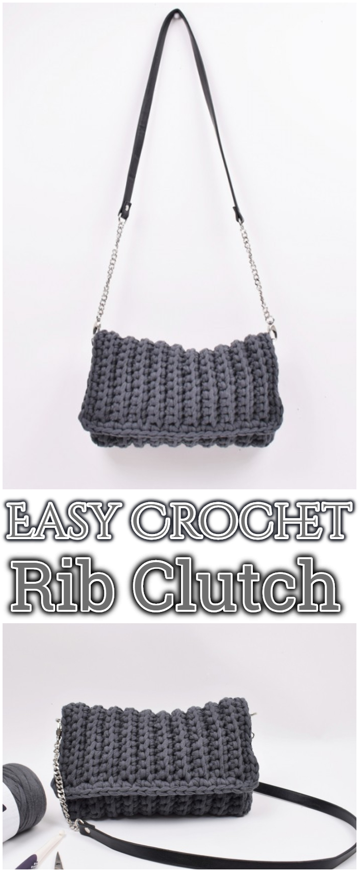 Easy Crochet Rib Clutch