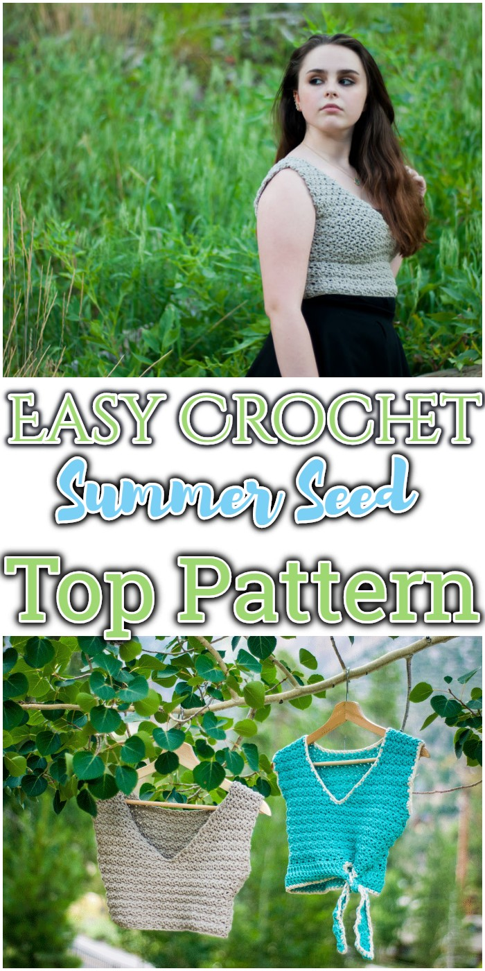 Easy Crochet Summer Seed Top Pattern