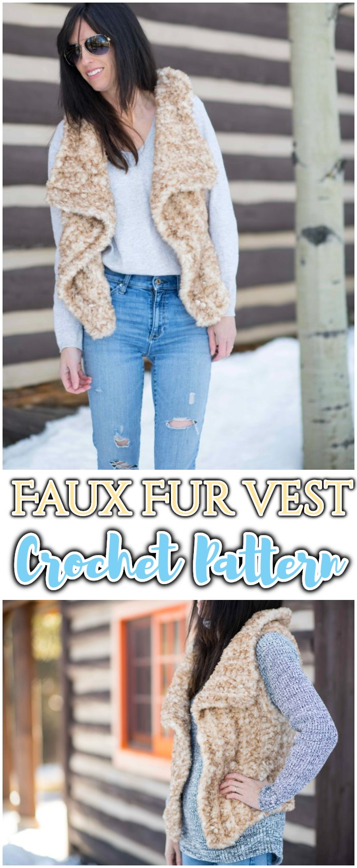 Faux Fur Vest Crochet Pattern