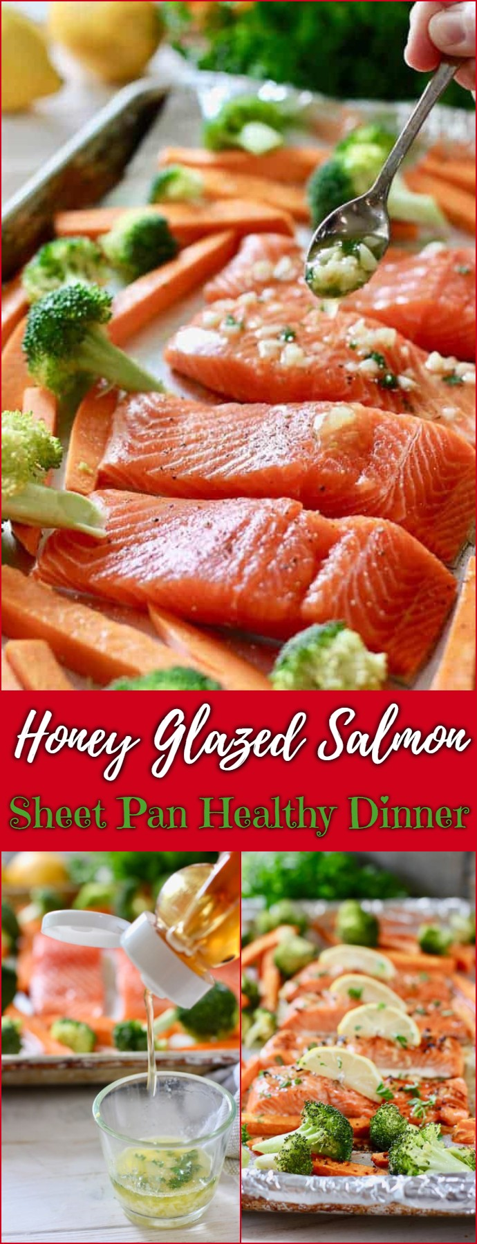 Honey Glazed Salmon Sheet Pan Healthy Dinner