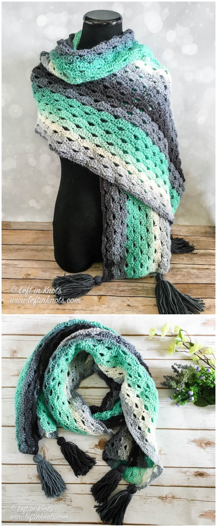 Stormy Days Wrap Easy Crochet Pattern