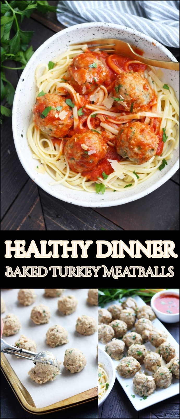 healthy dinner Baked Turkey Meatballs