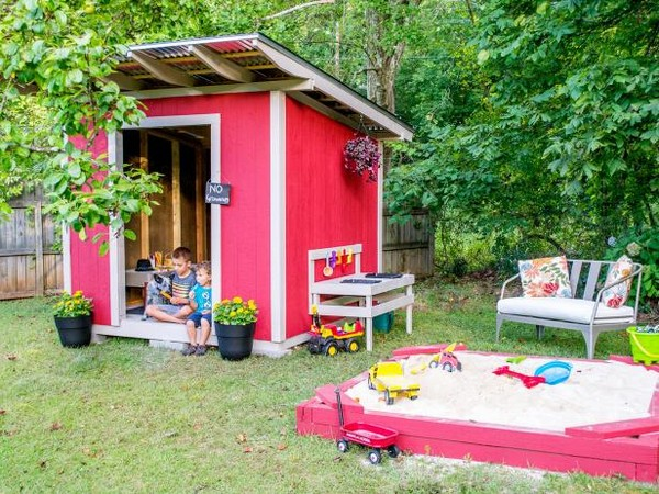 Create A Custom Kids' Backyard PlayhouseCreate A Custom Kids' Backyard Playhouse