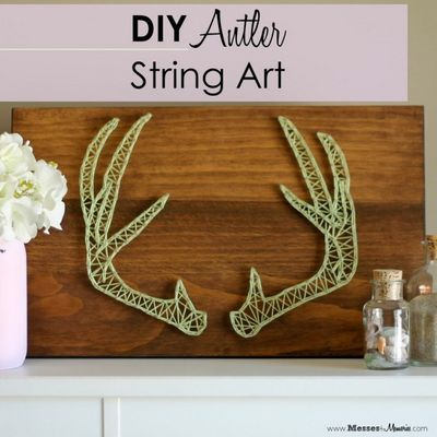 DIY Antler String Art Craft