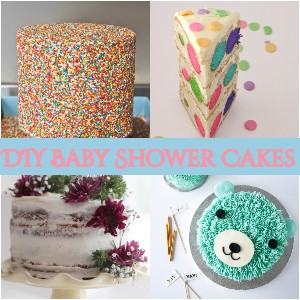 DIY Baby Shower Cakes