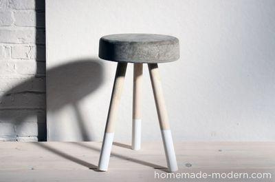 DIY Bucket Stool Concrete Idea