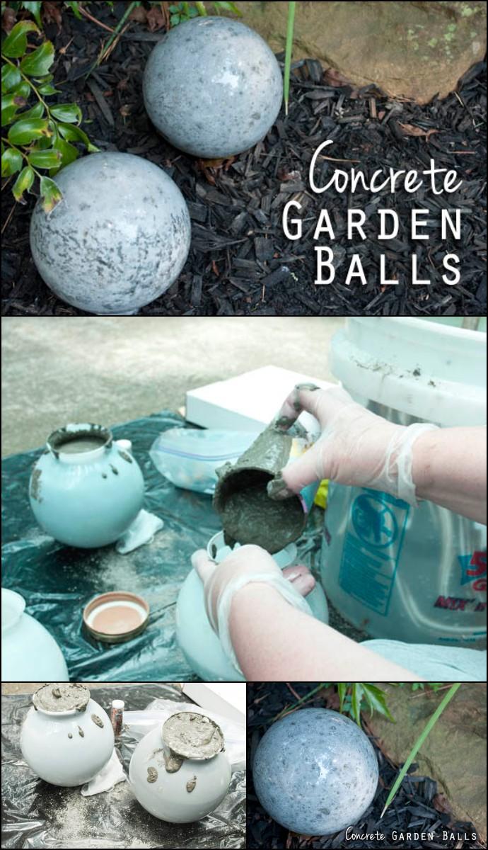 DIY Concrete Garden Balls