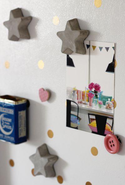 DIY Concrete Magnets Craft