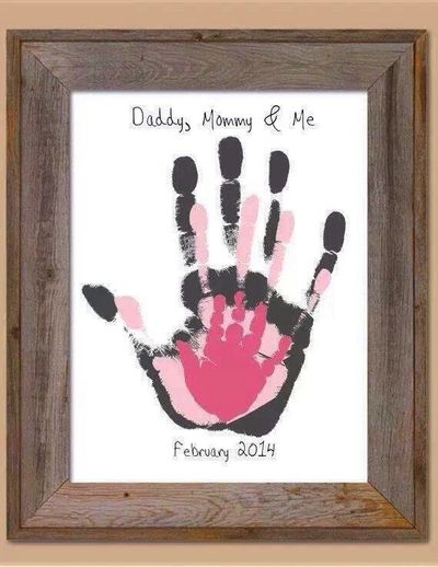 DIY Family Hand Prints Nursery Art
