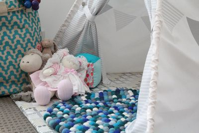 DIY Felt Ball Rug Nursery Idea
