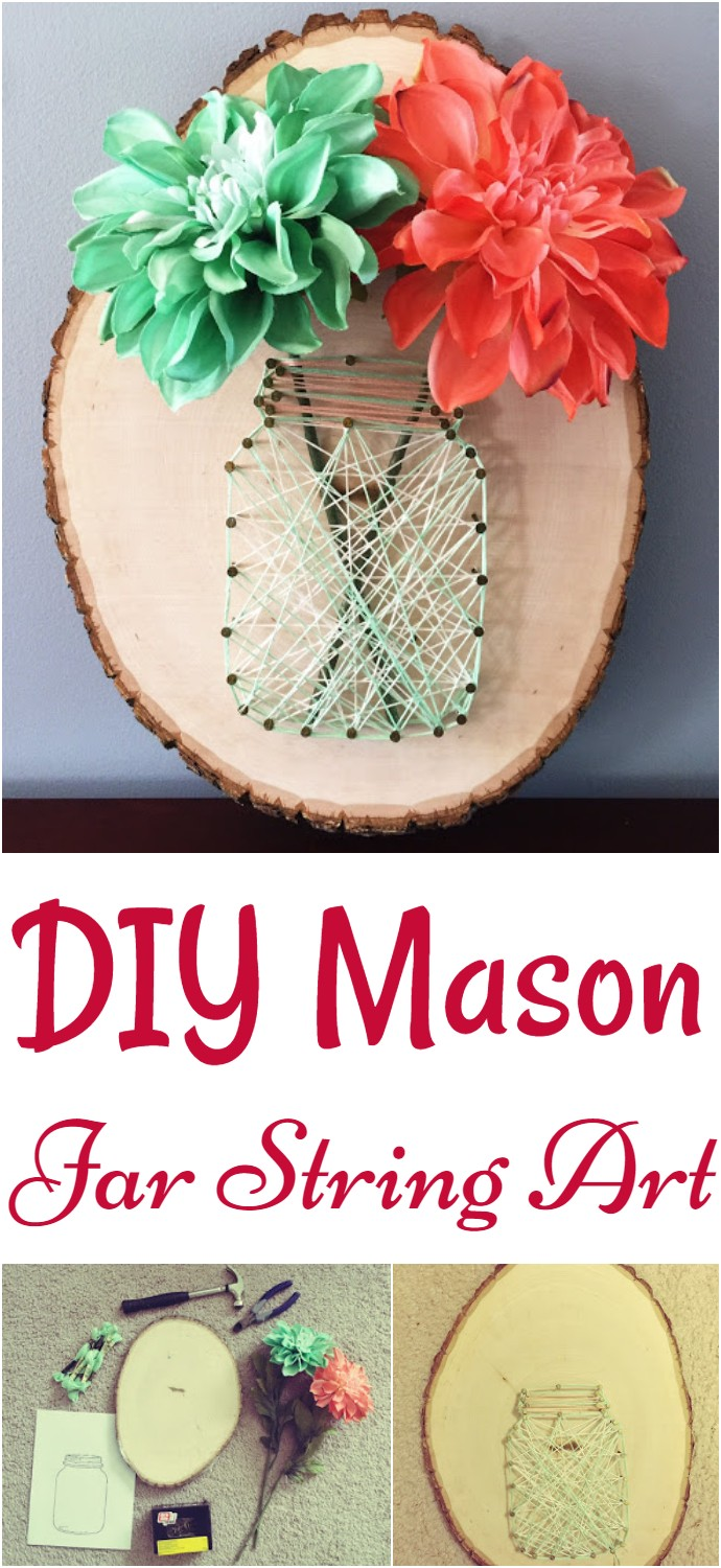 DIY Mason Jar String Art