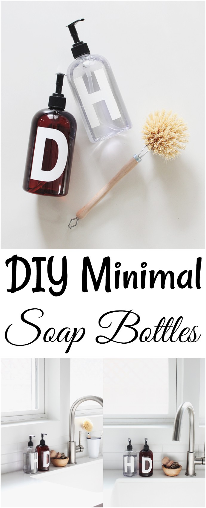 DIY Minimal Soap Bottles