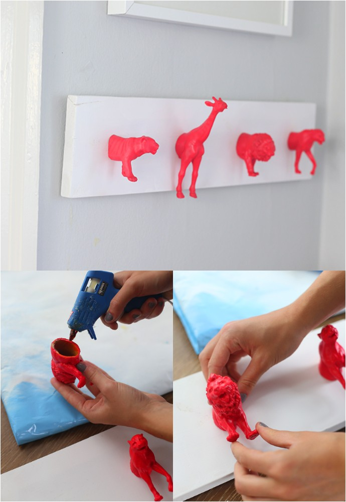 DIY Neon Nursery Wall Hooks
