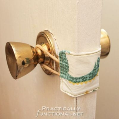 DIY Nursery Door Latch Cover Idea