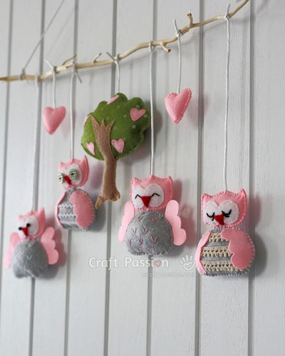 DIY Nursery Owl Mobile Sewing Pattern