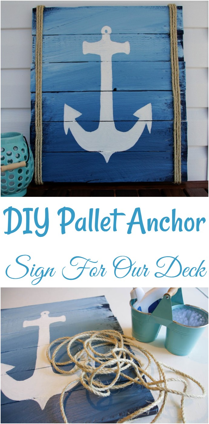 DIY Pallet Anchor Sign For Our Deck