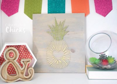 DIY Pineapple String Art Carft