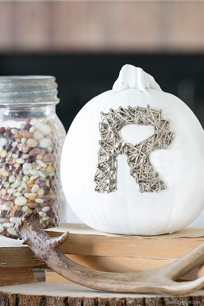 DIY Rustic Fall Decor String Art Idea