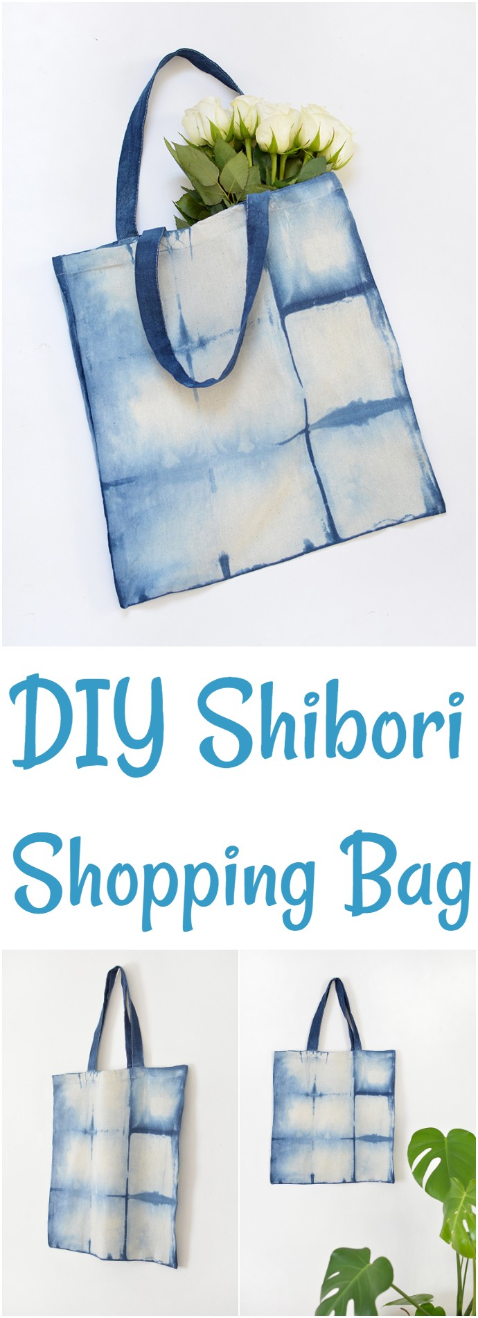 DIY Shibori Shopping Bag