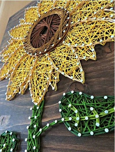 DIY Sunflower String Art Kit Idea